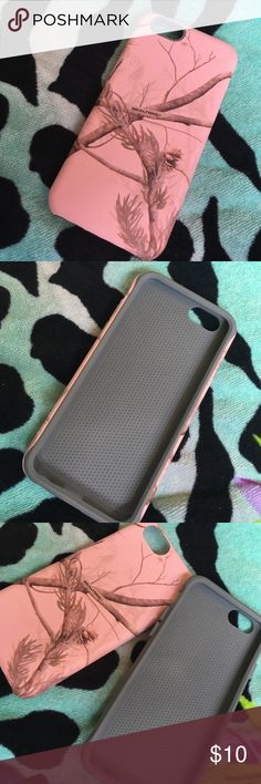 iPhone 6s case Love this case my fiancé bought it for me... unfortunately my best friend let me borrow an otterbox the next day. So I've never used it! However it's nice quality and pink is always cute! It's pretty much the same as my otterbox just a little less stronger. 😊 Paid at least $20 for it! ALWAYS OPEN TO OFFERS OR TRADES! ❤ realtree Accessories Phone Cases