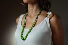 Neon Grün Sommer Halskette