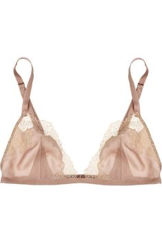 Envy lace soft-cup triangle bra by Calvin Klein. #lingerie #fashion