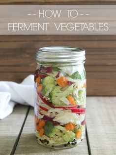 How to Ferment Vegetables. How to Ferment Vegetables. Tangy delicious fermented vegetables are SO easy to make at home & full of probiotics! Fermentation Recipes, Canning Recipes, Raw Food Recipes, Vegetable Recipes, Vegetarian Recipes, Healthy Recipes, Fruits And Veggies, Vegetables, Probiotic Foods