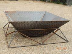 Fire Pit Stylish Steel Fireplace for Back Yard by deBurghSteel, $850.00