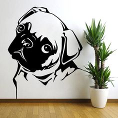 If you love pugs, this large pug vinyl wall decal will look great in your house. Easy to apply and remove, making it the best way to show your affection…