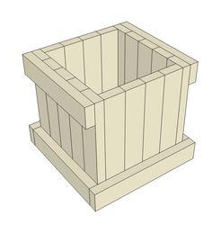2x4 Planter Box Plans   Free PDF Download - Construct101 Tall Planter Boxes, Planter Box Plans, Wood Planter Box, Wood Projects That Sell, Diy Wood Projects, Diy Wooden Planters, Diy Flower Boxes, Backyard Hammock, Square Planters