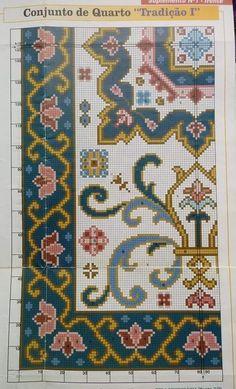 Cross Stitch Embroidery, Cross Stitch Patterns, Filet Crochet, Chart Design, Rugs On Carpet, Sewing Crafts, Needlework, Bohemian Rug, Minis