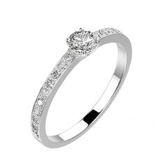 Gemmyo : Bague Alice - Or blanc 18 cts, Diamants