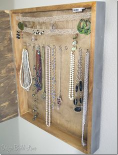 Lace framed jewelry holder craftyhandmade Pinterest Lace