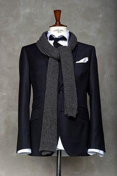 jacket. tie. scarf.