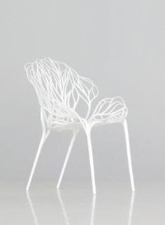 RONAN & ERWAN BOUROULLEC  Growing a chair, 2008. (Vitra).  The initial intuition was that of a chair which would sprout up like a plant. A vegetal chair, its branches gently curving to form the seat and back. It comes from this fascination we have for various types of old furniture, which is plant-inspired.