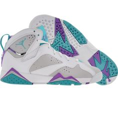 Air Jordan 7 VII Retro (neutral grey / mineral blue / bright violet / white) Shoes 442960-001 | PickYourShoes.com