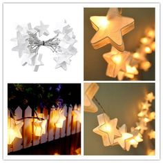 20 White Star Lantern LED 3M String Light US Plug Party Wedding Indoor Decor in Home & Garden, Lighting, Fans, String Lights | eBay!