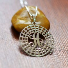 Spiral Initial Necklace in Sterling Silver
