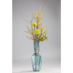 Pairing funky ribbed style with vibrant glass hues, this gorgeous vase makes for an ideal eye-catching centrepiece.Changing hue for contrasting colour dispersion. Decorative Accessories, Hue, Glass Vase, Centerpieces, Vibrant, Turquoise, How To Make, Handmade, Color