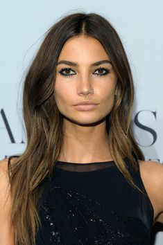 lily's perfect { perfect! } make up ... loving the nude lip. {oh and her hair isn't so bad either...}