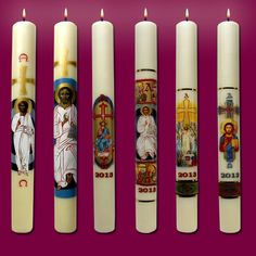 CIRIOS PASCUALES. Cerería Virgen de los Desamparados. Fabricación y venta de articulos religiosos en valéncia. Felipo SL Valencia
