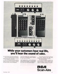 RCA Scan Aire Scanner Radios Scanning Receiver Crystal Scanners Vintage Police Scanners 1970s Ads