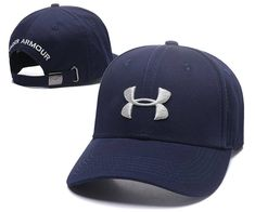7d5255a5e90 Under Armour Branded Baseball Hat Adjustable Men Women Cap Navy Blue