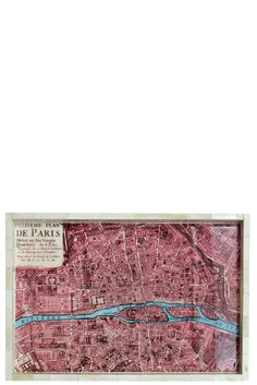 Take our quiz to discover your Spirit Print! Parisienne Map Tray