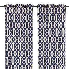 Navy Gate Hill Curtain Panel Set, 108 in. Navy Blue Curtains, Cream Curtains, Grommet Curtains, Drapes Curtains, Geometric Curtains, Patterned Curtains, Navy Nursery, Man Cave Room, Window Panels
