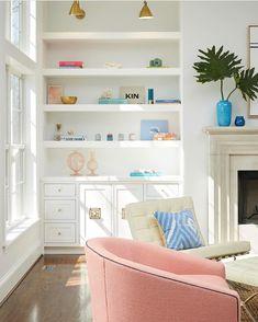 Fireplace ~ built-ins ~ window to floor