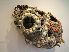 Sculptural Crochet by Jodi Colella - An artist who creates sculptures that derive from existing organic structures in nature