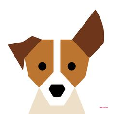 Jack Russell Art Print by Page 84 Design | Society6