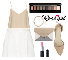 """// RoseGal-women style // 26/4"" by lightcoti ❤ liked on Polyvore featuring Raey, Elie Saab and Nly Shoes"