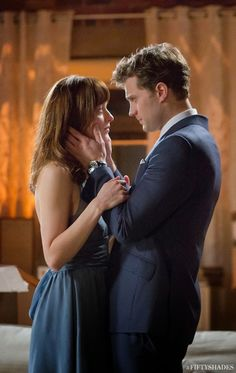 Fifty Shades Updates: HQ PHOTO: New Still from Fifty Shades of Grey featuring Ana and Christian(Color Version)