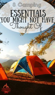 Seasoned or newbie campers alike, these new camping essentials are something you need to put on your packing list! http://www.savingmoneycamping.com/8-camping-essentials-you-might-not-have-thought-of/