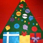 Felt Christmas Tree Ideas-Advent Day 6