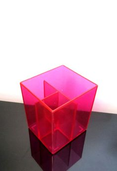 Acrylic Neon Pink Pen/Pencil Cup Holder by VivaLaVidaBonita, $10.00