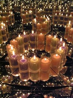 Candles and mirrors make an elegant combination