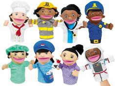 Let's Talk! Community Helpers Puppets - Complete Set at Lakeshore Learning
