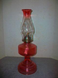 Vintage Pu0026A Risdon Eagle Red Oil Lamp~VGC