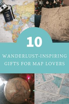 Gifts for Map Lovers: The Ultimate List of Wanderlust-Inducing Finds 10 ideas for creative, thoughtful, and stylish gifts for map lovers. These gifts will definitely serve as travel inspira. Travel Advice, Travel Guides, Travel Tips, Travel Destinations, Travel Checklist, Travel Info, Travel Abroad, Travel Goals, Best Travel Gifts