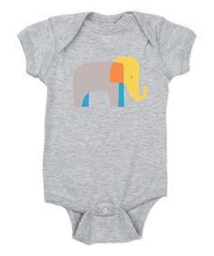Look at this #zulilyfind! Heather Gray Elephant Bodysuit by CafePress #zulilyfinds