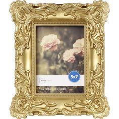 Mainstays Baroque Picture Frame Gold Traditional Ornate Styled Photo Holds X Rich Finish Includes Easel For Tabletop Display And