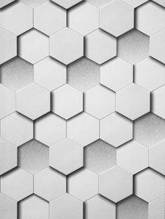 Papel de Parede 3D Kinetic - Estampa Geométrica Branca e Cinza - Código: J439-09 - Nova Casa do Papel de Parede