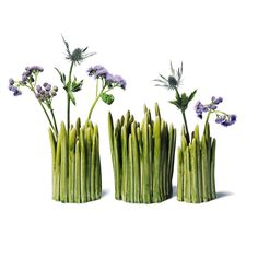 Handmade Grass Vases. Design by Claydies.  NormannCopenhagen
