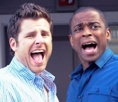 shawn and gus Funny! This is a beautiful show! Shawn And Gus, Shawn Spencer, Best Tv Shows, Favorite Tv Shows, Movies Showing, Movies And Tv Shows, Real Detective, I Know You Know, Book Tv