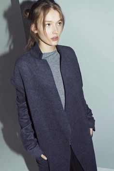 Navy blue coat #minimalist #style #fashion
