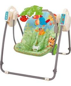 Fisher Price Rainforest Vibrating Soother Baby Bouncer