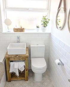Customer Photos - Customer's Bathroom & Kitchen Pics - Tons of Tiles Bathroom Interior Design, Latest Bathroom Tiles, Small Toilet Room, Bathroom Sets, Girls Bathroom, Small Downstairs Toilet, Small Bathroom, Laura Ashley Tiles, Bathroom Renovations