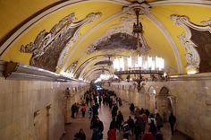 Komsomolskaya subway station in Moscow is on top of the list of things to do in Moscow in most city guides
