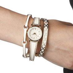 Anne Klein 施華洛世奇水晶日本石英女錶套組