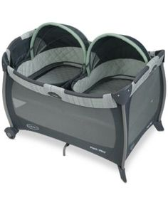 Graco Baby Pack 'n Play Playard with Twins Bassinet Mason - Black