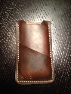 Horween Leather iPhone Sleeve by 440 Gentleman Supply. http://www.440gentlemansupply.com/#!product/prd1/702192981/horween-leather-iphone-5-sleeve