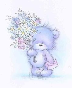 Jy's 'n vriendin duisend! Teddy Bear Images, Baby Painting, Bear Illustration, Tatty Teddy, Cute Teddy Bears, Cute Animal Drawings, Library Design, Big Bear, Illustrations