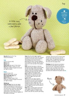 Knitting Patterns Free Dog, Knitted Doll Patterns, Baby Cardigan Knitting Pattern, Knitted Dolls, Easy Knitting, Loom Knitting, Knitting Bear, Crochet Toys, Knitted Stuffed Animals
