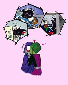 She did say her emotions control her powers・I guess w/ Beast Boy she can't control them Teen Titans Raven, Teen Titans Fanart, Teen Titans Go, Beast Boy Raven, Original Teen Titans, New Titan, Bbrae, Story Instagram, Dc Memes