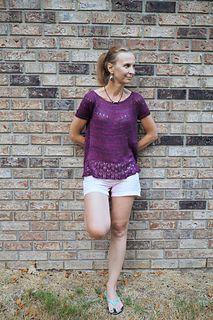 Ravelry: Deep Purple Top pattern by Natalie Volyanyuk